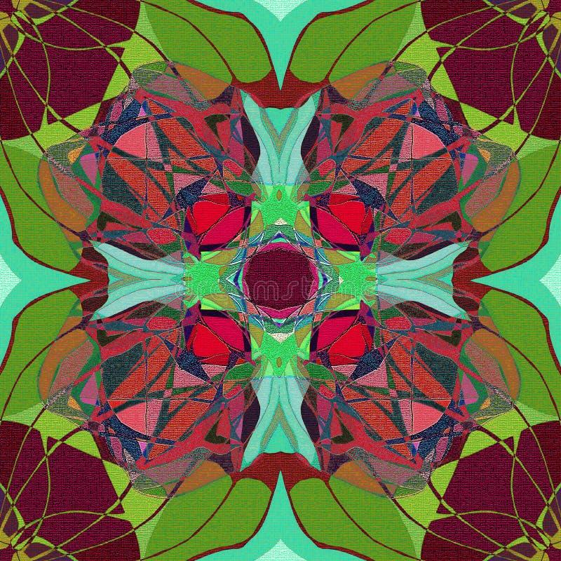 Dekorativ best?ndsdel f?r design TIFFANY STIL Abstrakt brunt- och gr?splanbakgrund stock illustrationer