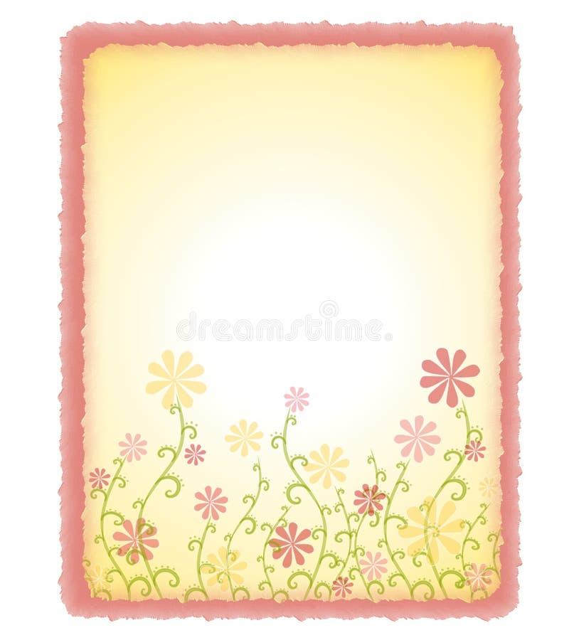 dekorativ blom- paper fjäder för bakgrund royaltyfri illustrationer