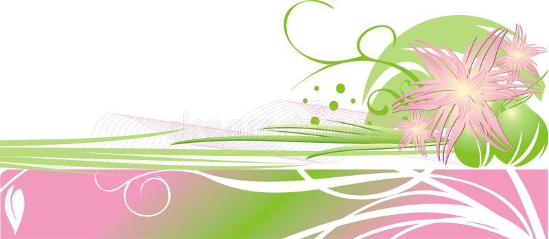 dekorativ blom- ram för kortchrysanthemums royaltyfri illustrationer