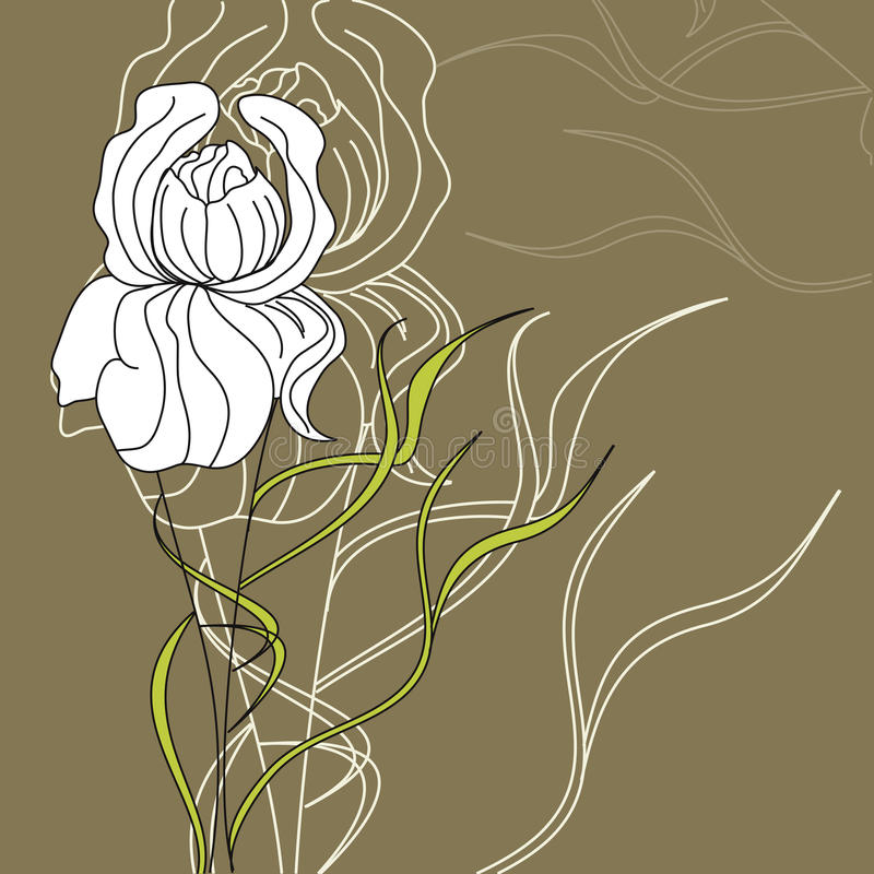 dekorativ blomma royaltyfri illustrationer
