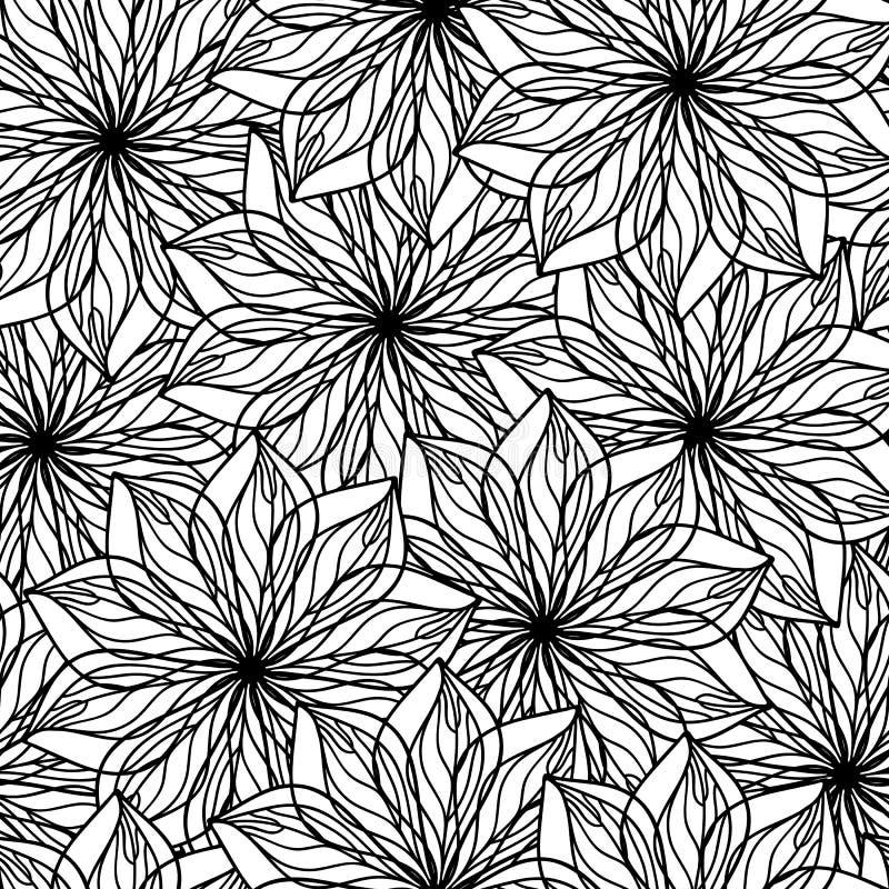 dekorativ blomma för bakgrund stock illustrationer