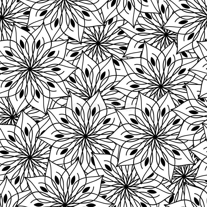 Dekorativ blommabakgrundsmodell i vektor vektor illustrationer