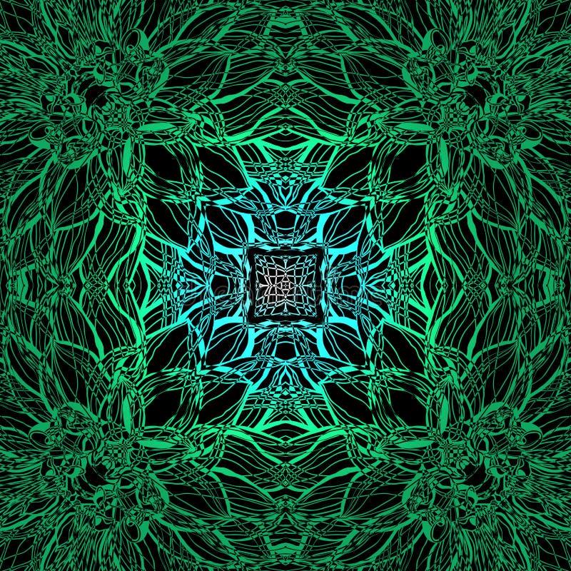Dekorativ dekorativ bakgrund för blomma vektor illustrationer