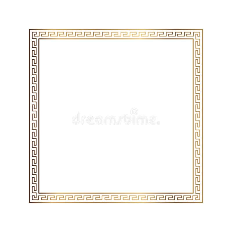 Dekorativ dekorativ isolerad rammodell för grekisk stil grekisk prydnad Antik rampacke för vektor Garneringbeståndsdelmodeller I stock illustrationer