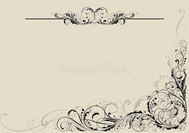 Dekorativ design för blom- virvel stock illustrationer