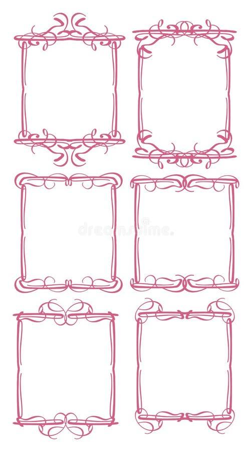 Dekorativ Designgräns För Tappning Fotografering för Bildbyråer