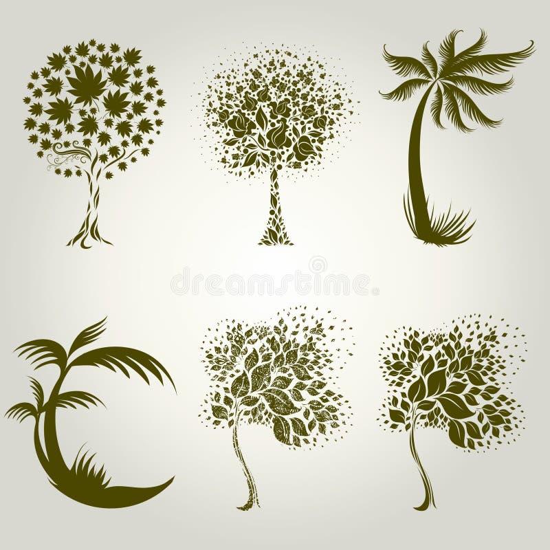 dekorativ designleafstree