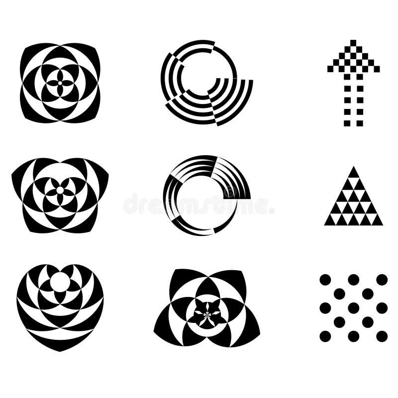 dekorativ designprydnad royaltyfri illustrationer