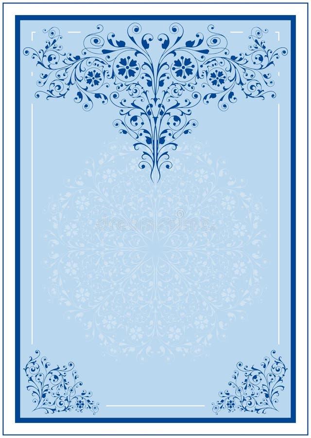 dekorativ designram stock illustrationer