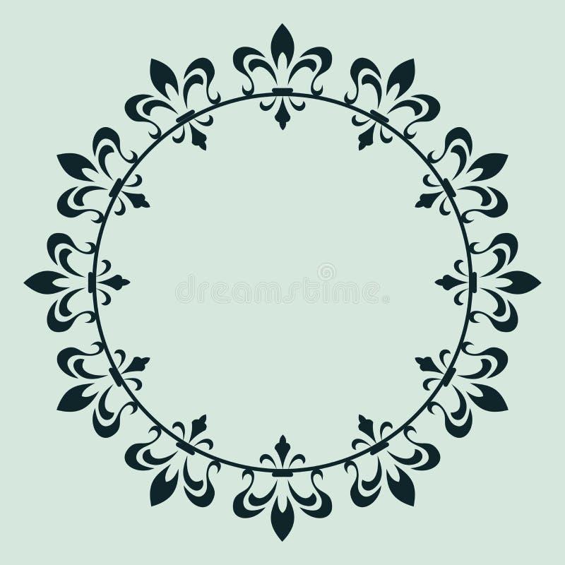 dekorativ designram vektor illustrationer