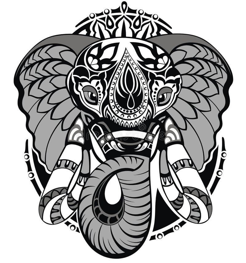 dekorativ elefant royaltyfri illustrationer