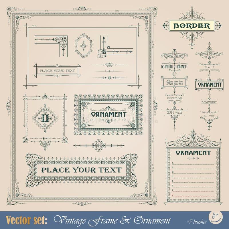 dekorativ elementtappning stock illustrationer