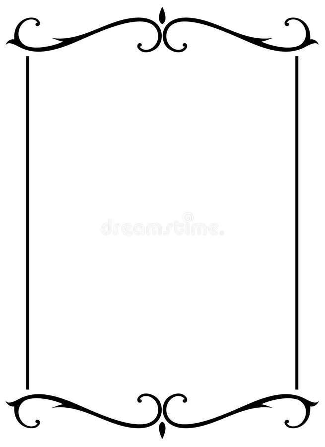 dekorativ eps-ramjpg stock illustrationer