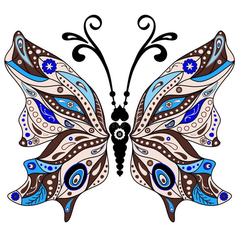 Dekorativ fantasifjäril royaltyfri illustrationer