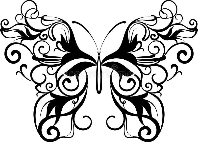 dekorativ fjäril vektor illustrationer
