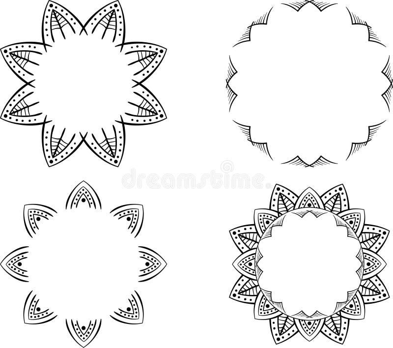 Dekorativ form för blommacirkelvektor royaltyfri bild
