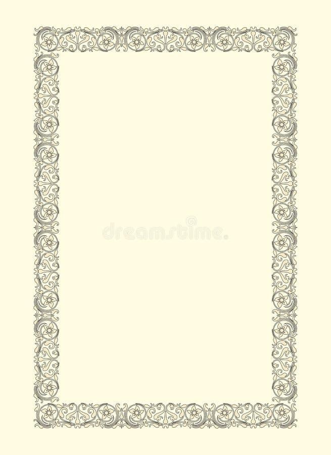 dekorativ fototappning för ram stock illustrationer