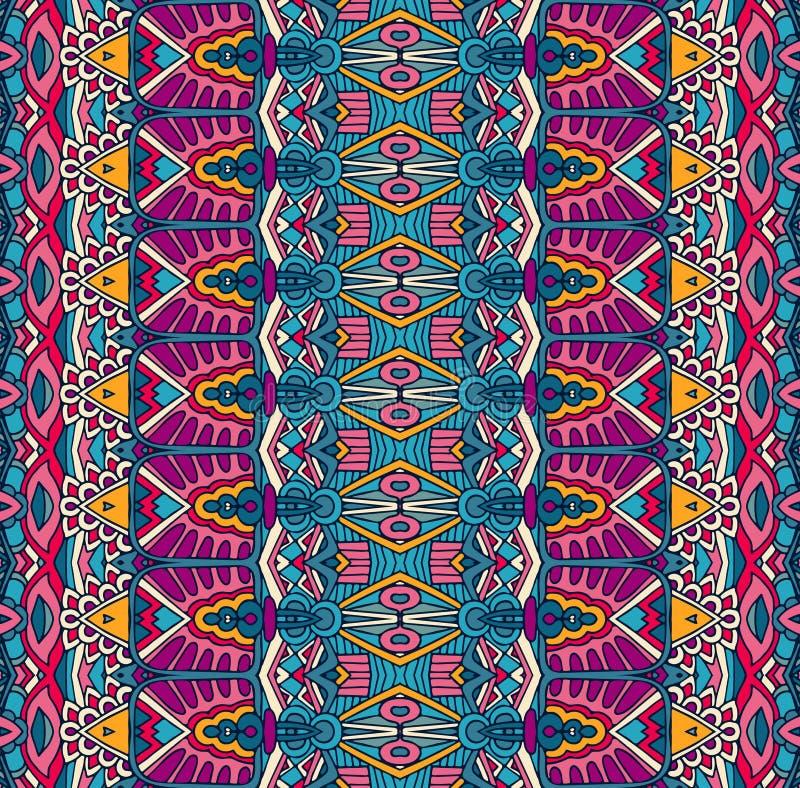 Dekorativ geometrisk etnisk sömlös modell för stam- tappningabstrakt begrepp royaltyfri illustrationer