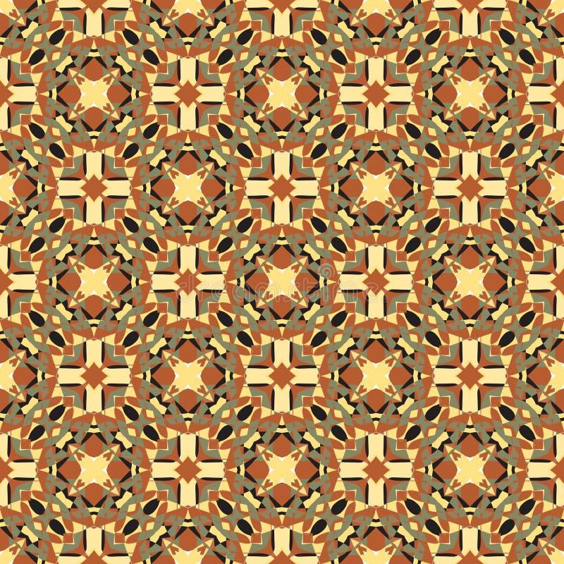 Dekorativ geometrisk sömlös modell vektor illustrationer