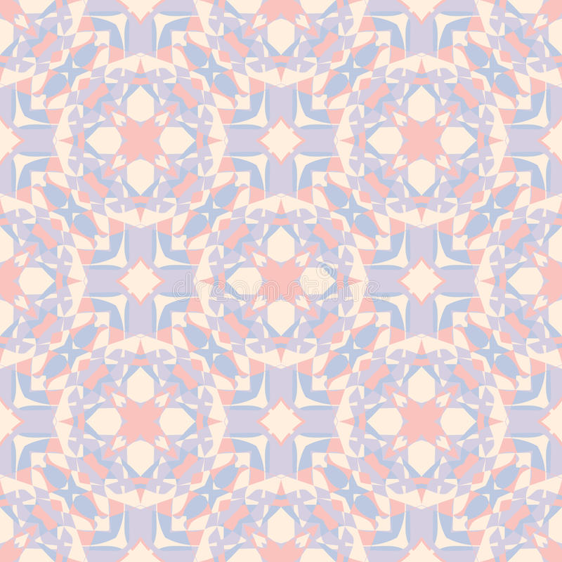 Dekorativ geometrisk sömlös modell Abstrakt bakgrundstextur för vektor retro stil vektor illustrationer