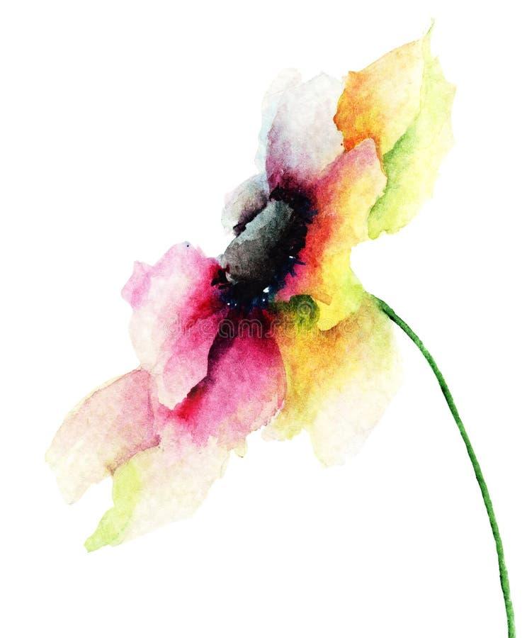 Dekorativ Gerber blomma royaltyfri illustrationer