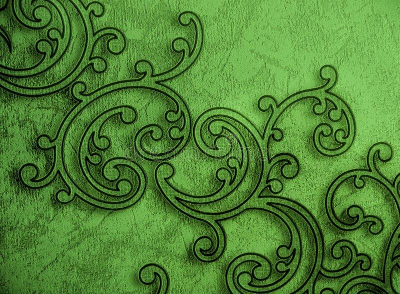 Dekorativ grön tapet för modell royaltyfri foto
