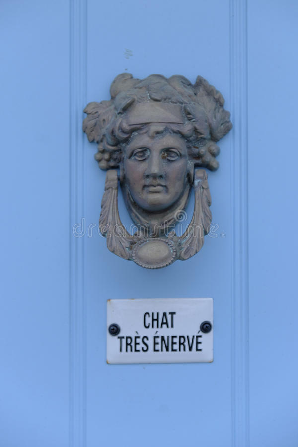 Dekorativ grekisk dörrknackare royaltyfria bilder
