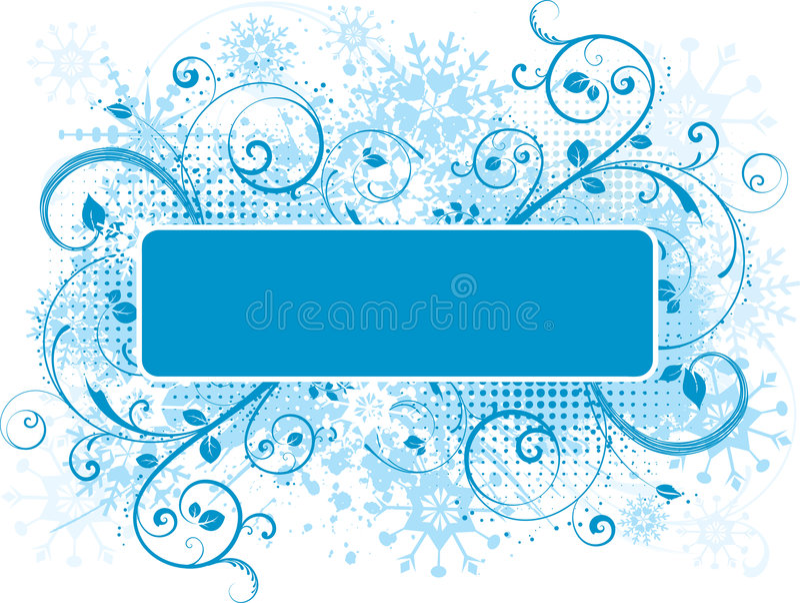 dekorativ grungesnowflake royaltyfri illustrationer