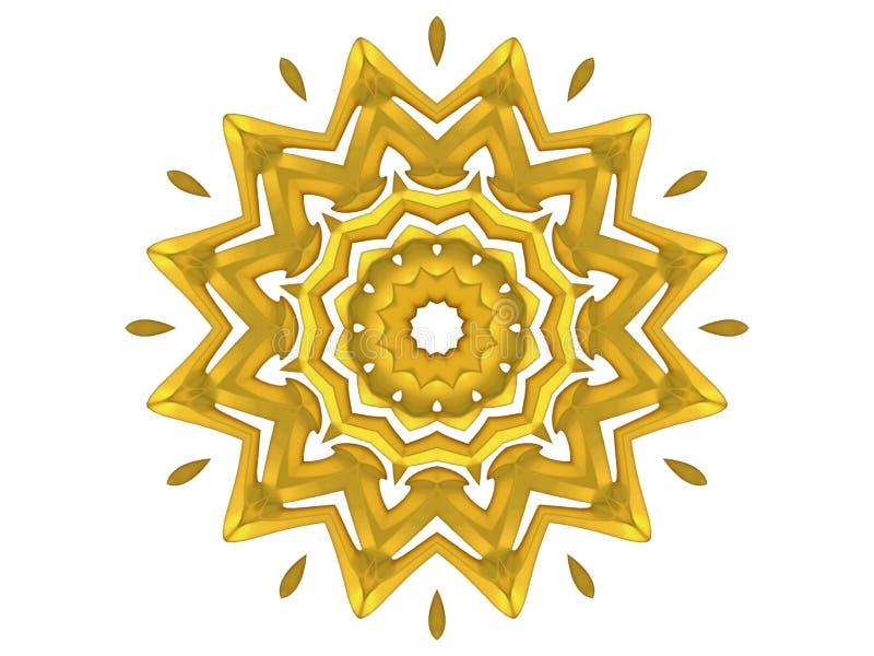 dekorativ guldmodellsun vektor illustrationer