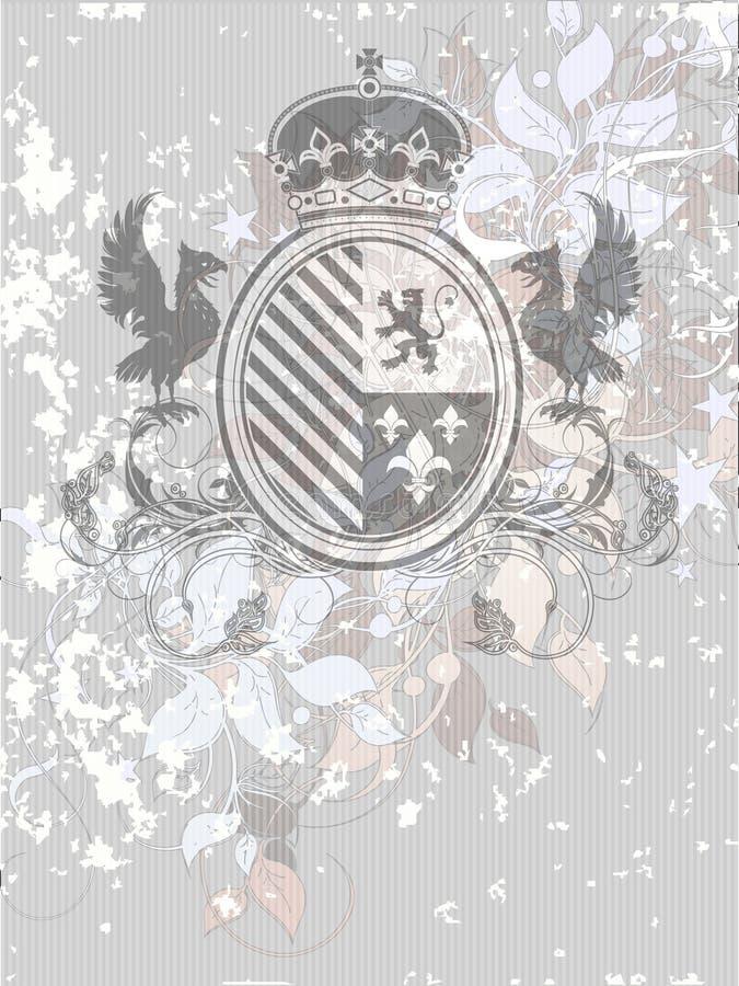 Dekorativ heraldisk sköld vektor illustrationer