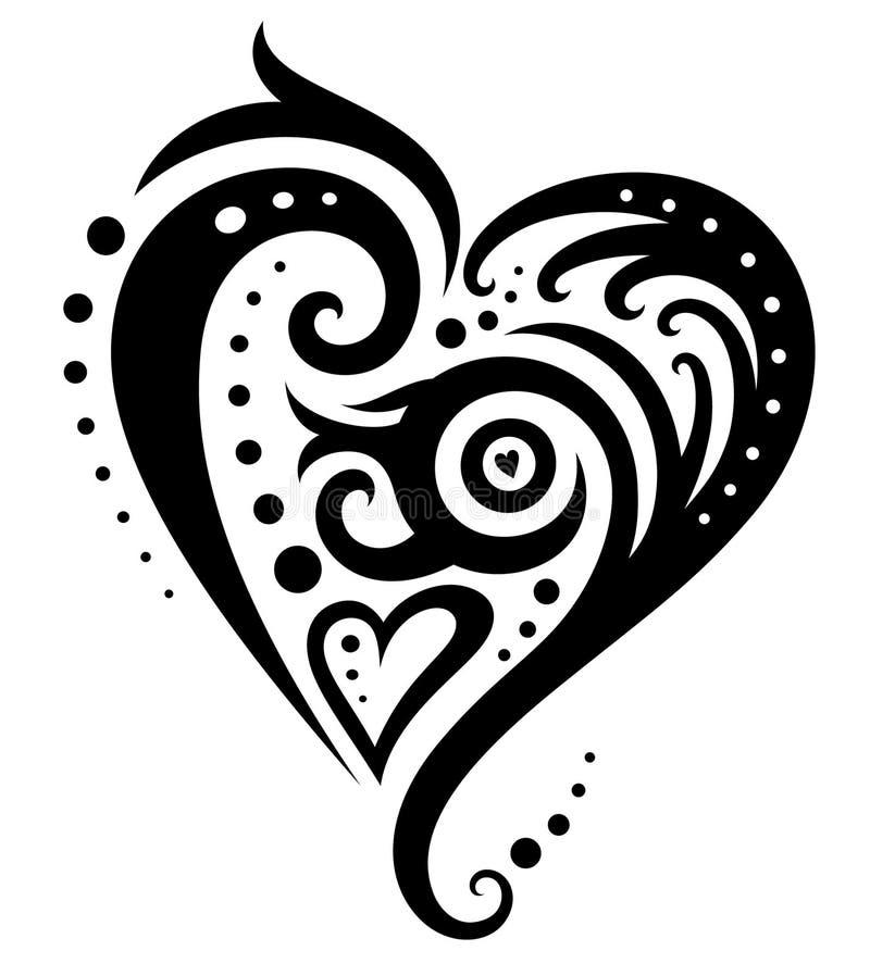 dekorativ hjärta vektor illustrationer