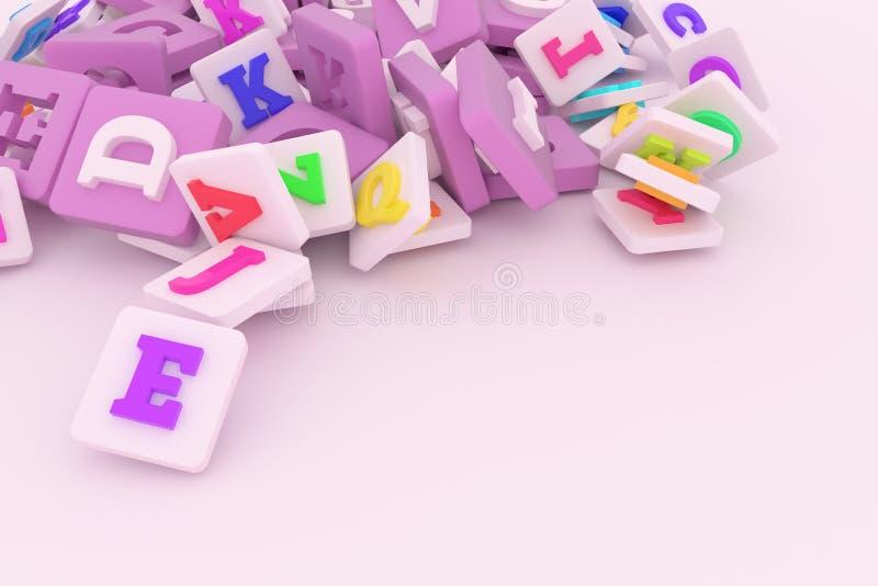 Dekorativ, Illustrationen, Bündel des Charakterzeichens oder Symbol, für Entwurfsbeschaffenheitshintergrund 3d ?bertragen lizenzfreie abbildung