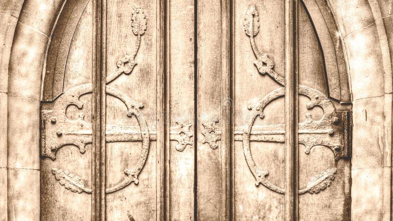 Dekorativ Ironwork horisontalHDR arkivfoto