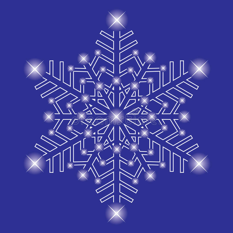 dekorativ issnowflake vektor illustrationer