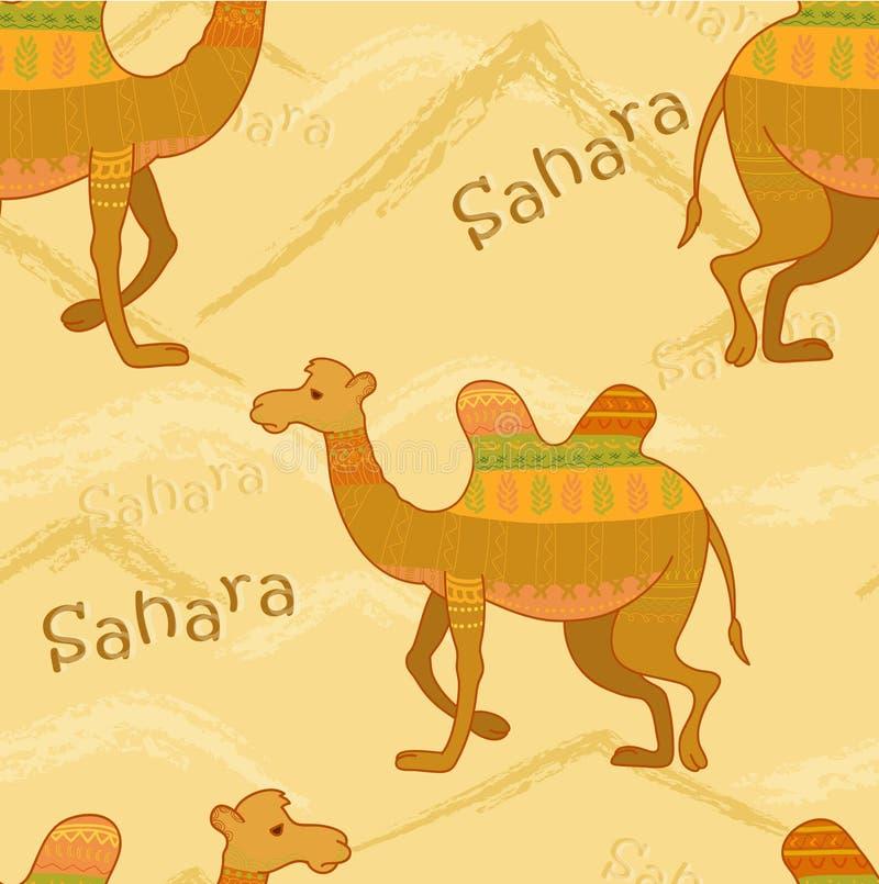 Dekorativ kamel stock illustrationer