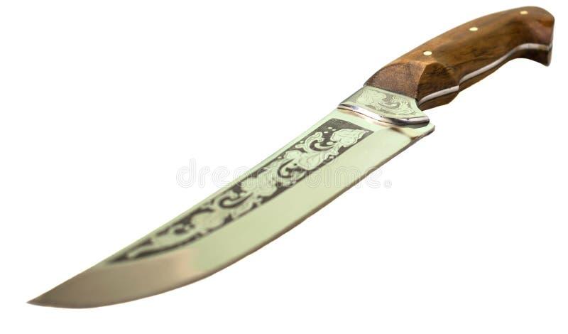 dekorativ kniv Isolerad vitbakgrund royaltyfri foto