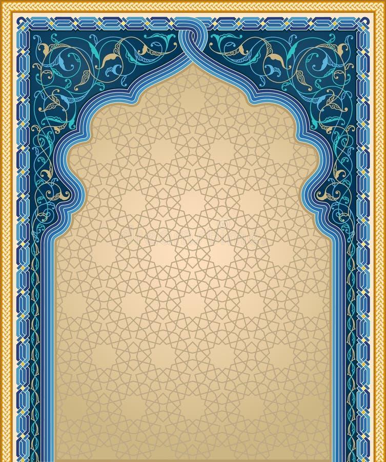 Dekorativ konstbakgrund i blått och guld- färg vektor illustrationer