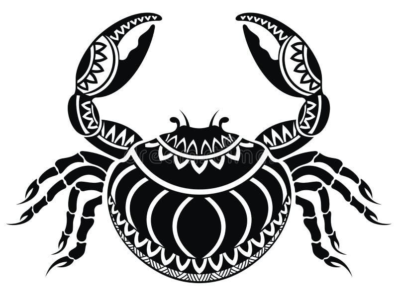 Dekorativ krabba stock illustrationer