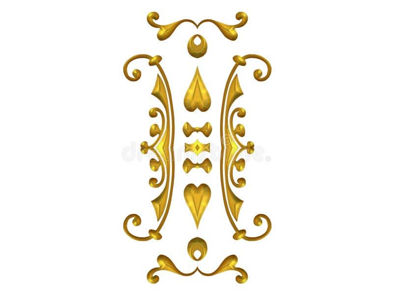 dekorativ krusidullguld royaltyfri illustrationer
