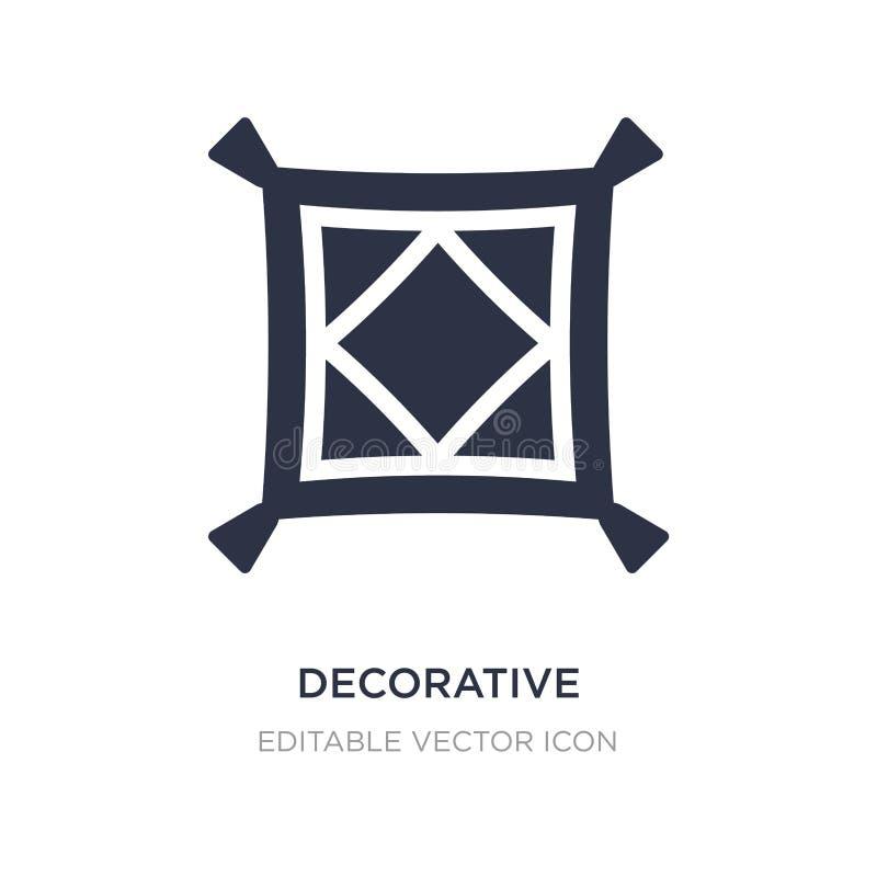 dekorativ kuddesymbol på vit bakgrund Enkel beståndsdelillustration från byggnadsbegrepp vektor illustrationer
