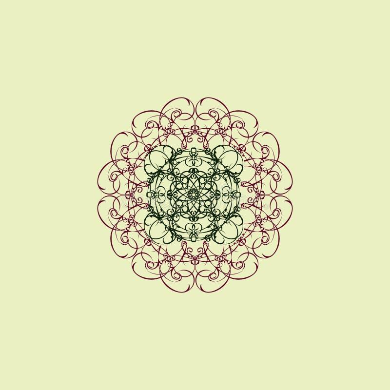 Dekorativ kulör mandala tecknad hand vektor illustrationer