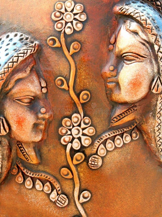 Download Dekorativ Lättnad I Terrakotta Arkivfoto - Bild av detalj, vägg: 37349888