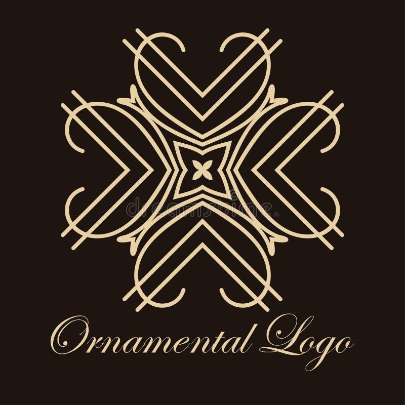 Dekorativ logo för tappning stock illustrationer