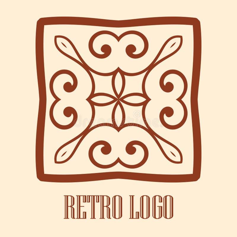 Dekorativ logo för tappning vektor illustrationer