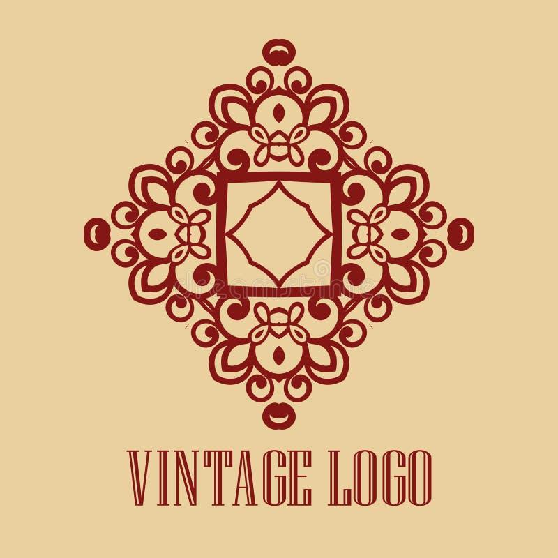 Dekorativ logo för tappning royaltyfri illustrationer