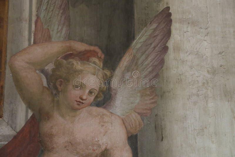 Download Dekorativ målning i Rome fotografering för bildbyråer. Bild av berömdt - 76704067