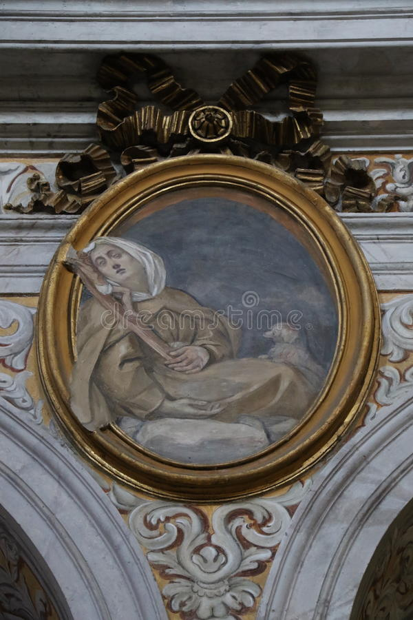 Download Dekorativ målning i Rome arkivfoto. Bild av historiskt - 76704118