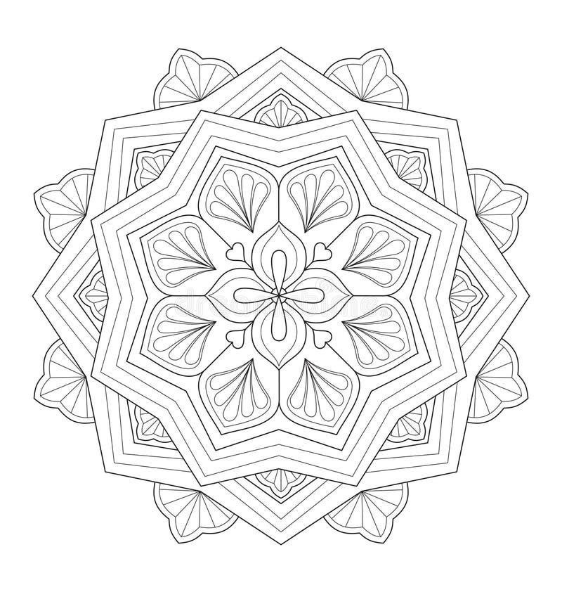 Dekorativ mandalaillustration vektor illustrationer