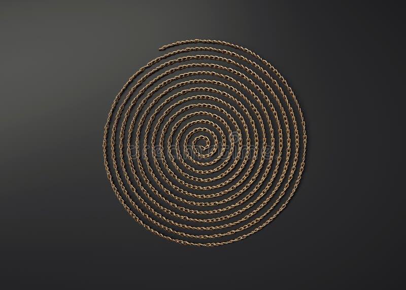 Dekorativ metallspiral arkivfoton
