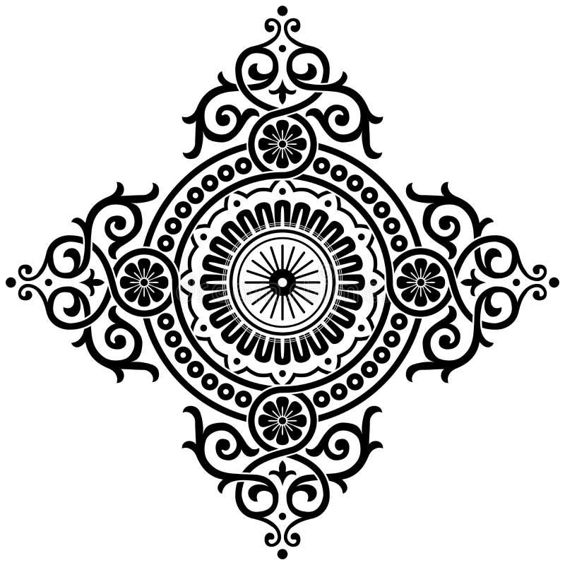 dekorativ modell royaltyfri illustrationer